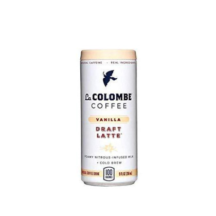 La Colombe Vanilla Draft Latte - 9 Fluid Ounce, 4 Count - Cold-Pressed Espresso and Frothed Milk + Vanilla - Made with Real Ingredients - Grab and Go Coffee