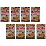 """Ferrero: """"Nutella B-Ready New + Nutella """" A Crisp Wafer Of Bread In The Form Of Mini - Baguette Stuffed With A Creamy Nutella 6 Pieces 4.6 Oz (132G) Pack Of 8 [ Italian Import ]"""