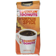 Dunkin' Donuts Pumpkin Spice Flavored Ground Coffee, 11 Ounces