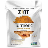 Zint Organic Turmeric Powder: Raw Turmeric Curcumin Supplement Spice, 16 Ounce