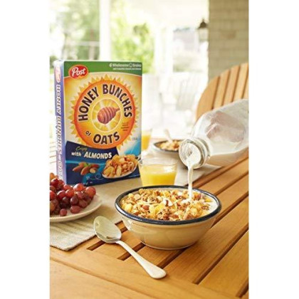 Post Honey Bunches Of Oats With Almond Breakfast Cereal, 14.5 Ounce (Pack Of 12)