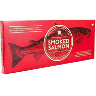 Alaska Smked Salmon Boneless Fillet | Slow Smked Over Alderwood Fire | Hand Filleted & Brined With A Traditional Native Recipe | Smokehouse 14 Oz Holiday Gift Box. (Smokehouse)
