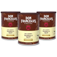 Don Francisco's Vanilla Nut Flavored Ground Coffee, 100% Arabica (3 x12 Ounce Cans)