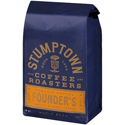 Stumptown Coffee Roasters Organic Whole Bean Coffee, Founders Blend, 12 Ounce. Full-Bodied Coffee With Raisin, Praline And Cocoa Powder Notes, Perfect For Drip, Espresso Or French Press Brewing