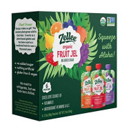 Zellee Certified Organic Fruit Jel Pouches | Variety Pack | 6 Pack | Non-Gmo, Gluten-Free, Vegan, Plant-Based, No Added Sugar, Antioxidant Rich | Healthy Snack For Adults & Kids | 3.5 Oz Pouches