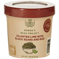 Women's Bean Project Instant Cilantro Lime Rice and Black Beans Meal Cup, 1.98 Ounces