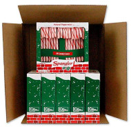 Spangler Peppermint R&Amp;W Candy Canes 6-18 Count Boxes