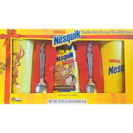 Limited Edition 5 Piece Nestle Nesquik Chocolate Milk Tumbler Gift Set! Includes 2 Tumbler Cups, 2 Spoons, &Amp; Chocolate Syrup! Perfect For Hanukkah Or Christmas Gift!