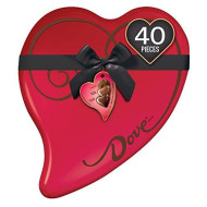 Dove Extra Large Valentine'S Assorted Chocolate Candy Heart Gift Box 14-Ounce 40- Piece Tin