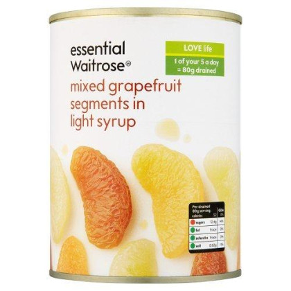 Essential Waitrose Mixed Grapefruit Segments In Syrup 540g
