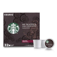Starbucks Sumatra Dark Roast Single Cup Coffee For Keurig brevers, 1 Box Of 32 (32 Total K-Cup Pods)