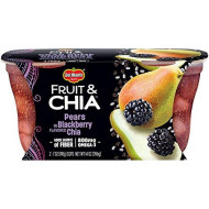 Del Monte Fruit & Chia Snack Cups, Pears in Blackberry Flavored Chia, 7-Ounce Cups, 12-Count