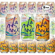 La Croix Mango, Peach-Pear, Apricot - Variety Pack, 12Oz Cans (18-Pack Variety, Total Of 216 Oz)