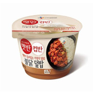 [Cj Cupban] Microwavable Cooked Rice Bowls - 5 Flavors (Spicy Chicken 240G)