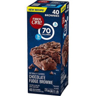 Fiber One Fiber One Fudge Brownies Chocolate Bars 40 x 0.89 Oz Net Wt 35.6 Oz, 35.6 oz