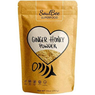 Soulbee Ginger Honey - Instant Tea - Low In Calories - Non-Gmo, Gluten Free, Dairy Free, Kosher - High Dissolution Perfect For Sweeten Drinks - Superfood Powder