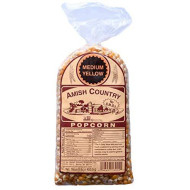 Amish Country Popcorn - 1 Lb Medium Yellow Kernels - Old Fashioned, Non Gmo, Gluten Free, Microwaveable, Stovetop And Air Popper Friendly With Recipe Guide