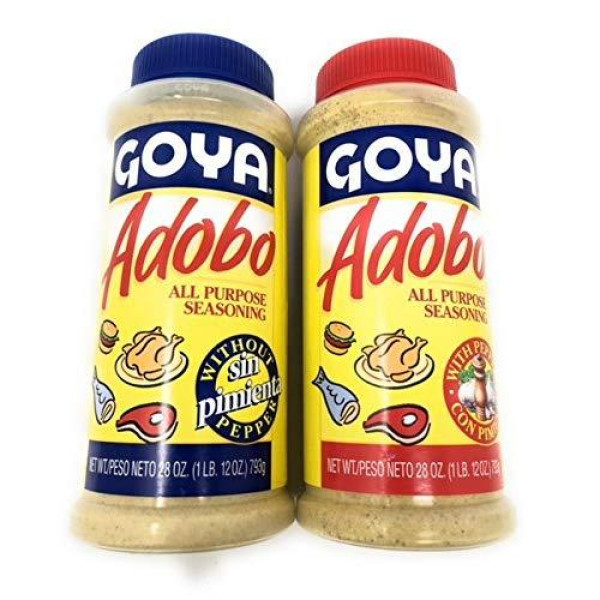 Shop Goya Bulk Adobo Seasoning 28oz Each Includes 1 With Pepper And 1 Without Pepper Online At Low Prices In Usa Groceryeshop Us