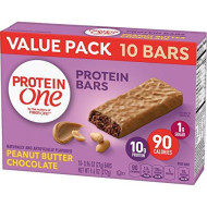 Protein One 90 Calorie Protein Bars, Peanut Butter Chocolate, 10 Count, (Pack Of 6)