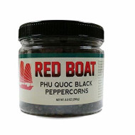 Red Boat Phu Quoc Black Peppercorns - Traditional Vietnamese Premium Whole Pepper Corns For Cooking - Flavorful & Vibrant Spices - Perfect For Seasoning Meat, Poultry & Veggies - 8.8Oz Jar