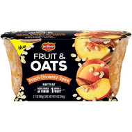 Del Monte Fruit And Oats Snack Cups, Peach Cinnamon Spice, 7-Ounce Cups, 12-Count