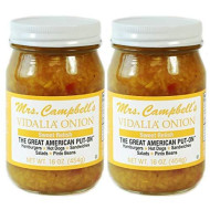 Mrs. Campbell's Vidalia Onion Sweet Relish, 16 Oz Glass Jar (Pack of 2)