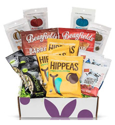 Gluten Free Vegan Chip Box: Variety Of Healthy Sweet & Savory Chips Nuts - Seeds - Fruit Stix - Healthy Care Package Gift Box