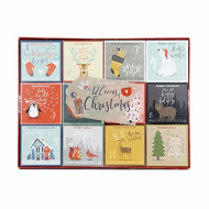 Thoughtfully Gifts, 12 Cocoas Of Christmas Gift Set, 1 Ounce Each, 4 Unique Flavors: Double Chocolate, Snickerdoodle, Toasted Marshmallow And French Vanilla Cocoas, Set Of 12