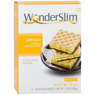 WonderSlim High Protein Wafer Bar - Lemon (5 servings/box) - Trans Fat Free, Aspartame Free, Cholesterol Free