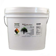 Palm Oil - RSPO Certified - Sustainable - Food Grade - Kosher - Not Hydrogenated - 8 lbs in a 1 Gallon Pail - HDPE microwavable Container with resealable lid and Removable Handle