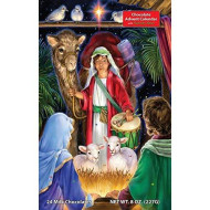 Vermont Christmas Company A Gift For The King Chocolate Advent Calendar &Amp; Nativity Story