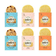 Low Carb Cookies Bisketo - Keto Snacks, Low Net Carbs, No Sugar, Gluten &Amp; Grain Free - Box With 6 Packs,12 Cookies (Variety Joy) - Ketogenic Diet Friendly &Amp; Healthy Snack Food