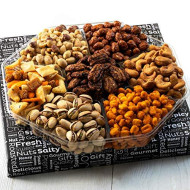 Jeffrey'S Nuts Christmas Gift Baskets | Holiday Prime Nut &Amp; Snacks Assortment 7 Variety Gourmet Party Food Basket Gifts For Men, Women, Thanksgiving, Valentines, Fathers Mothers Day, Vegan Corporate