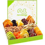 Holiday Nuts And Dried Fruit Gift Basket, Gourmet Mix Of Assorted Fresh Nuts &Amp; Dried Fruit Tray For Christmas Holiday, Mothers &Amp; Fathers Day, Birthday, Sympathy, Corporate Gifts By Nut Cravings