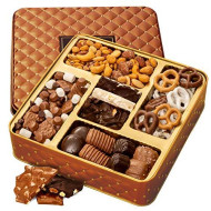 Bonnie And Pop - Chocolate And Nuts Gourmet Gift Basket Prime - Mother'S Day Holiday And All Occasions - Assortment Tray - Corporate Food Gifts, Sympathy, Birthday Or Get Well - Gifts For Men &Amp; Women