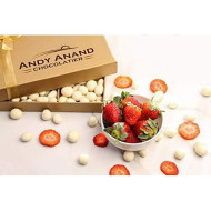 Andy Anand'S California Strawberries 1Lb, Covered With Greek Yogurt, For Birthday, Valentine Day, Gourmet Christmas Holiday Food Gifts, Thanksgiving, Mothers Fathers Day, Get Well Gift