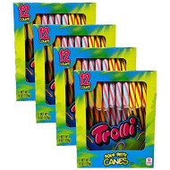 Trolli Sour Brite Hard Candy Canes Perfect For Kids And Adults 6 Oz. 12 Ct For Christmas - Pack Of 4 (48 Total Candy Canes)