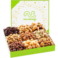 Holiday Mixed Nuts Gift Basket, Gourmet Mix Of Assorted Fresh Nuts Food Tray For Christmas Prime Holiday Delivery, Mothers &Amp; Fathers Day, Birthday, Sympathy, Corporate Gift Box, By Nut Cravings