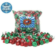 Crazyoutlet Pack - Hershey'S Kisses Milk Chocolate With Almonds Candy, Christmas Mix, 2 Lbs