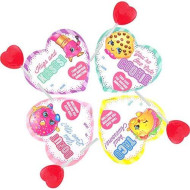 Animated Valentine'S Day Shopkins Classroom Exchange Cards With Lollipops, 25 Count