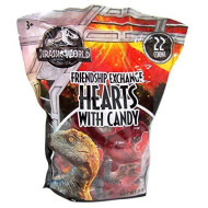 Jurassic World Themed Valentine'S Day Candy Filled Hearts Friendship Exchange, 22 Count