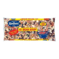 Pack of 4 Hambeens W/Seasoning packet original Dried 15 Bean Soup, 20 oz - High Fiber, Low Fat