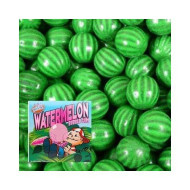 Watermelon Dubble Bubble Bubble Gum - 3 Lb Resealable Stand Up Candy Bag (Approx. 180 Pieces) - 1 Inch Gumballs For Vending Machines - Bulk Filler Candy - Artificially Flavored Gum