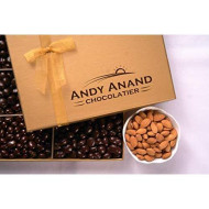 Andy Anand'S Dark Chocolate Covered Almonds 1 Lbs, &Amp; Greeting Card, For Birthday, Valentine Day, Gourmet Christmas Holiday Food Gifts, Thanksgiving Halloween, Mothers Day, Get Well Basket, Unique Gift