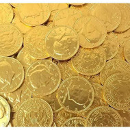 Crazyoutlet Pack - Milk Chocolate Gold Coins Candy, Large 1.5 Inch, Chocolate Candy, 1 Lb