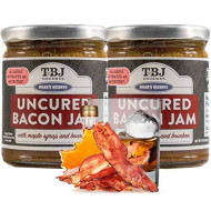 Tbj Gourmet Maple Bourbon Bacon Jam - Original Recipe Bacon Spread - Uses Real Bacon, No Preservatives - Authentic Bacon Jams - 2 X 9 Ounces