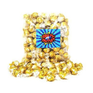 Crazyoutlet Pack - Lindt Lindor White Chocolate Truffle Candy, Gold Foil, Christmas Candy, Bulk Pack, 2 Lbs
