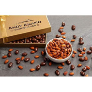 Andy Anand Sugar Free Dark Chocolate California Almonds, Vegan, Delicious, 1 Lb Gift Boxed &Amp; Greeting Card For Birthday, Valentine Day, Christmas, Holiday Food Gifts, Mothers Day, Get Well