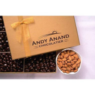 Andy Anand Sugar Free Milk Chocolate California Almonds, Delectable &Amp; Delicious,1 Lb Gift Boxed &Amp; Greeting Card For Birthday, Valentine Day, Christmas, Holiday Food Gifts, Mothers Day, Get Well