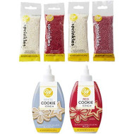 Wilton Red And White Christmas Cookie Decorating Set, 6-Piece